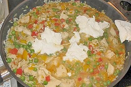 Reispfanne mit Gemüse und Hühnchen 14