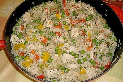 Reispfanne mit Gemüse und Hühnchen 3
