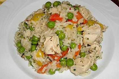 Reispfanne mit Gemüse und Hühnchen 1