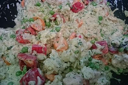 Reispfanne mit Gemüse und Hühnchen 4