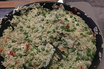 Reispfanne mit Gemüse und Hühnchen 8