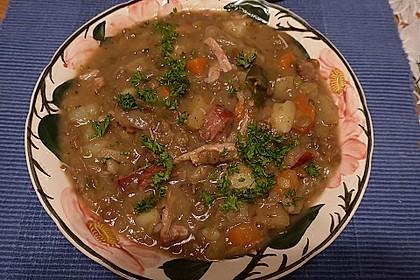 Linsensuppe mit Kartoffeln und Mettwurst 15