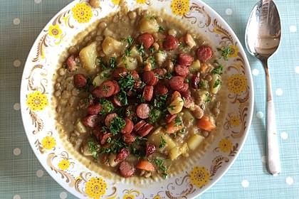 Linsensuppe mit Kartoffeln und Mettwurst 3