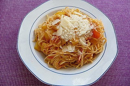 Frischkäsenudeln mit Tomaten 1