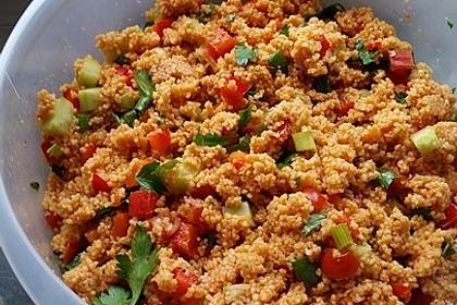 Roter Couscous - Salat 1