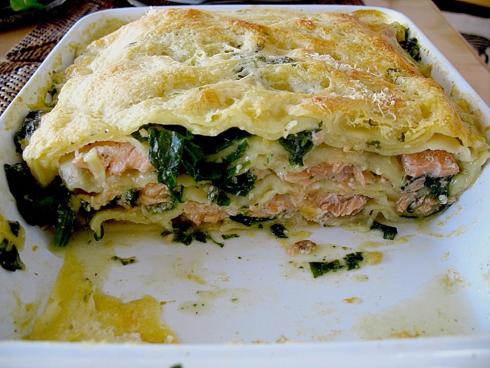Spinat Lachs Lasagne Von Philosophin Chefkoch