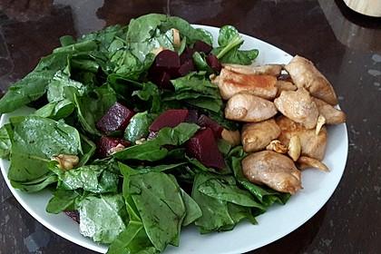 Blattspinat-Salat
