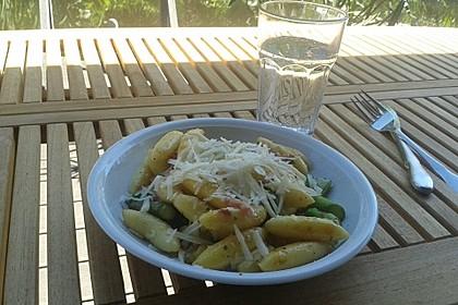Spargel-Schupfnudelpfanne mit Speck und Parmesan 3