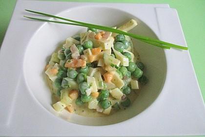 Erbsen-Eiersalat mit Salatgurke