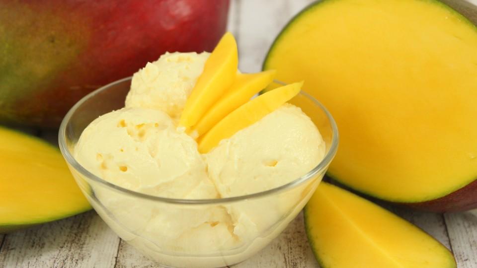 Mango Eis Ohne Eismaschine Von Koch Kinode Chefkoch