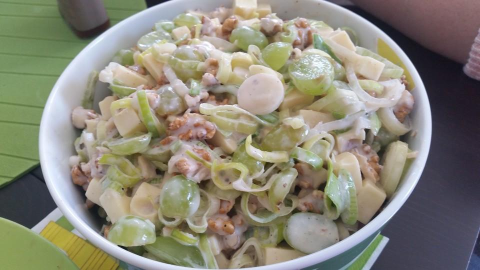 Lauch Käse Salat Mit Trauben Und Walnüssen Von Sashp Chefkoch