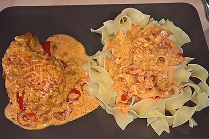 Tanjas überbackenes Paprika-Zwiebel-Sahne-Hähnchen 2