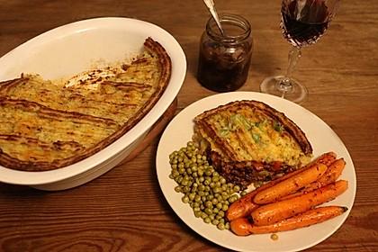 Vegane Shepherd's Pie mit Linsen