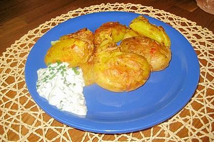 Würzige gequetschte Ofenkartoffeln 4
