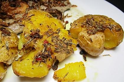 Würzige gequetschte Ofenkartoffeln 3