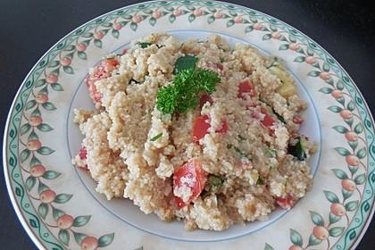 Couscous mit Zucchini und Tomaten