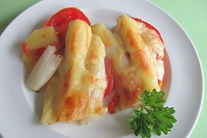 Kartoffel-Tomaten-Spargelauflauf