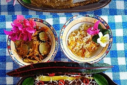 Fischfilet Madura in Macadamia-Tamarinden-Sauce