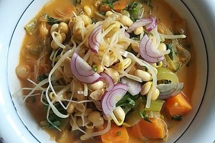 Vegane Thai-Curry Glasnudelsuppe 3