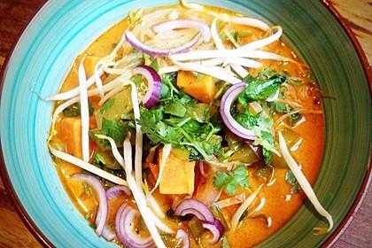 Vegane Thai-Curry Glasnudelsuppe