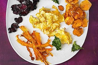 Gemüse-Chips aus Grünkohl, Rote Bete, Sellerie und Süßkartoffel 2