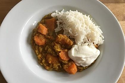 Linsen-Süßkartoffel-Curry 1
