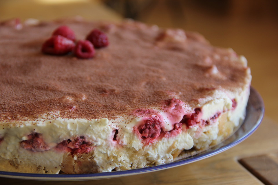Himbeer Tiramisu Torte No Bake Von Evas Backparty Chefkoch De