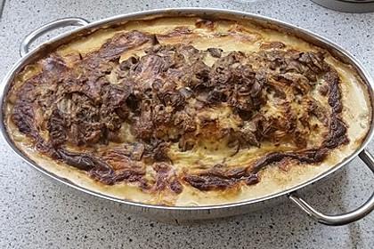 Würziger Camembert-Braten mit Pilzen 1
