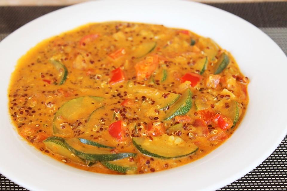 Veganer Eintopf Mit Roter Quinoa Und Kokosmilch Von Lina311