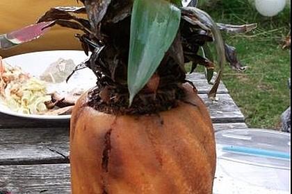Ananas im Backteig
