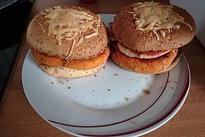 Camembert-Hähnchen Burger