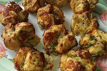 Knoblauch-Brötchen-Muffin
