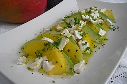 Mango-Avocado-Salat mit Ziegenfrischkäse 5