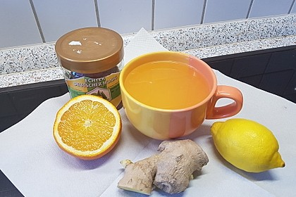 Ingwer-Orangentee, Erkältungstee 4
