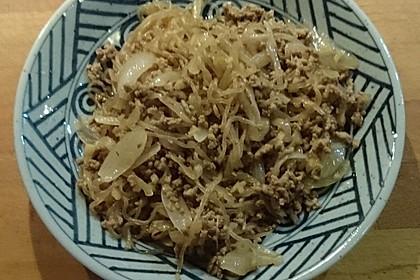 Shirataki-Nudeln mit Hackfleisch und Ingwer (Bild)