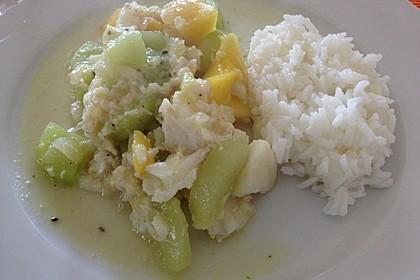 Fischcurry mit Mango und Gurke 1