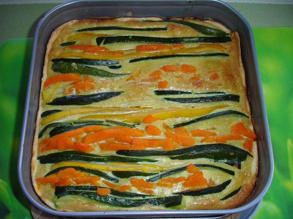 Gemüse Pie Mit Zucchini Und Kürbis Von Dodith Chefkoch