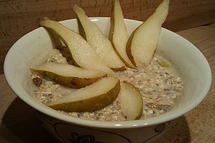 Overnight cashew oats mit Birnen und Ingwer 2