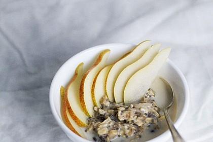 Overnight cashew oats mit Birnen und Ingwer