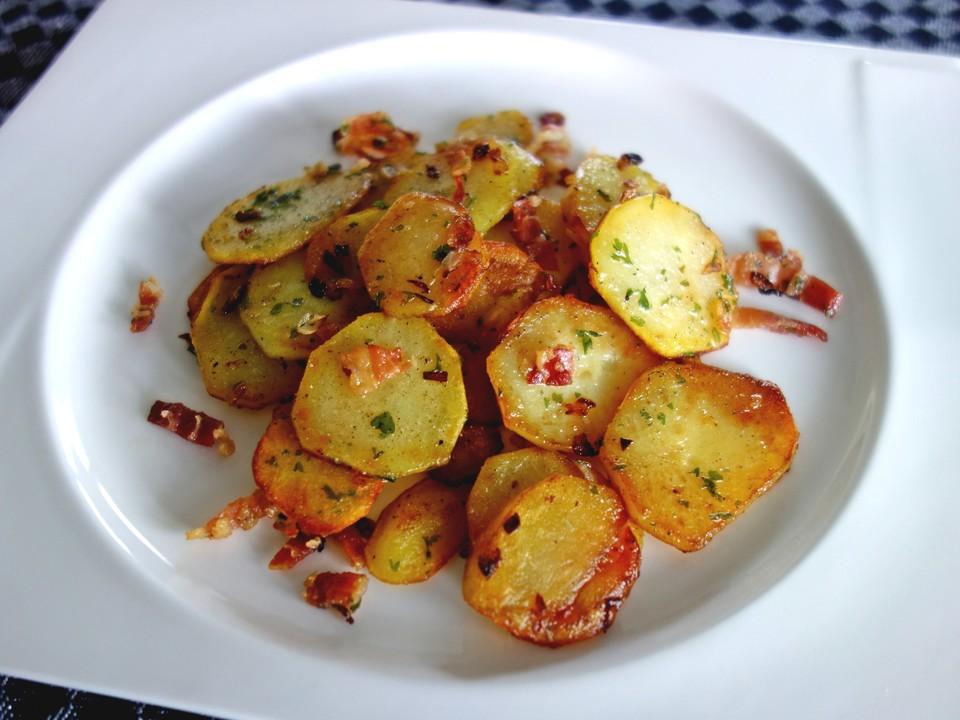 Bratkartoffeln aus ungekochten kartoffeln