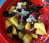 Overnight-Oats mit Obst (Bild)