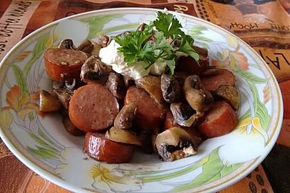 Aras gebratene Champignons mit Knoblauchfrischkäse