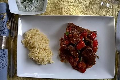 Yufka mit Gemüse- und Rindfleischfüllung 2