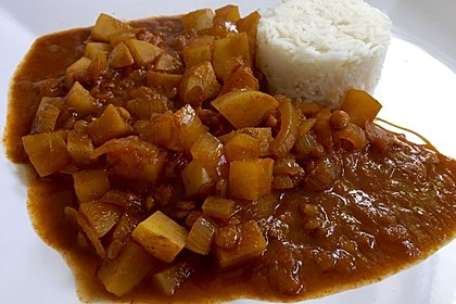 Vegetarisches Kartoffel-Linsen-Curry