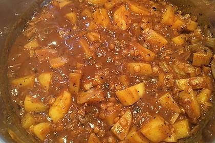 Vegetarisches Kartoffel-Linsen-Curry 1