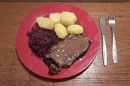 Aleks Rinderschmorbraten, Roastbeef in Granatapfelsaft