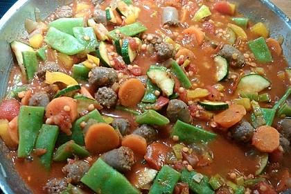 Arabische Merguez-Gemüse-Pfanne 1