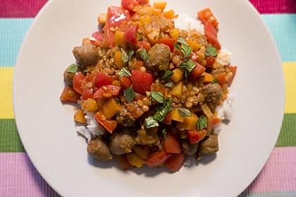 Arabische Merguez-Gemüse-Pfanne