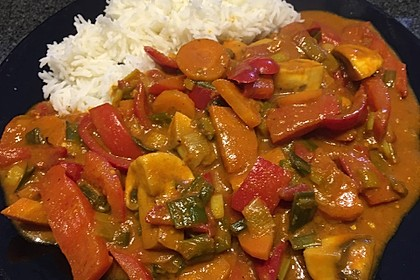 Wok-Gemüse-Kokosmilch-Curry 2