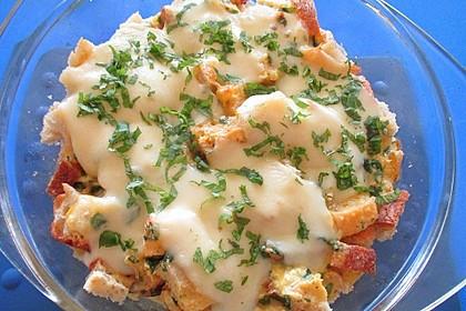 Tomaten-Ciabatta-Auflauf mit Parmesan und Basilikum 1
